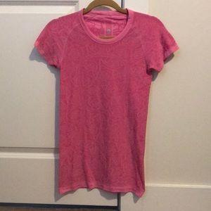 Lulu lemon pink short sleeve shirt